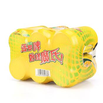 广氏 菠萝啤 330ml*6罐 塑膜6连包果啤 水果味饮料