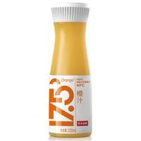 农夫山泉 17.5° 100%鲜榨橙汁 330ml