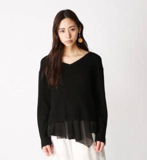 MOUSSY 010ASM70-1270 女士两件套针织衫