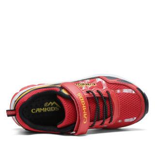 Camkids 86670309 男童户外登山鞋  火焰红/黑色/亮柚橙 32码
