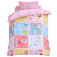 象宝宝(elepbaby)床品四件套 婴儿床上用品被套被芯枕套枕芯可拆洗被子枕头套件(童真童趣)