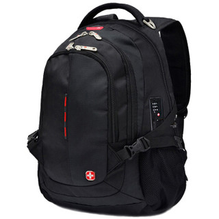CROSSGEAR CR-9001 学生双肩书包 大容量防泼水 黑色  33*21.5*48cm