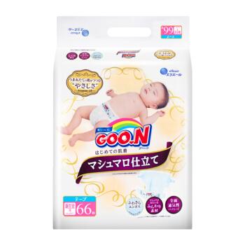 GOO.N 大王 棉花糖 婴儿纸尿裤 (NB 、66片)
