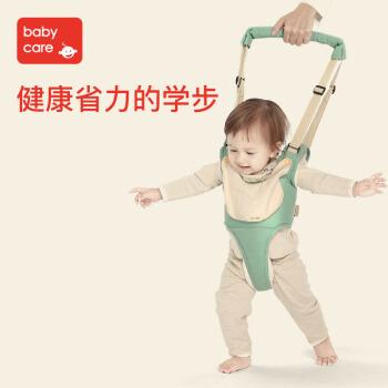 babycare 婴儿学走路舒适透气款两用学步带 3010赛琳绿 四季款