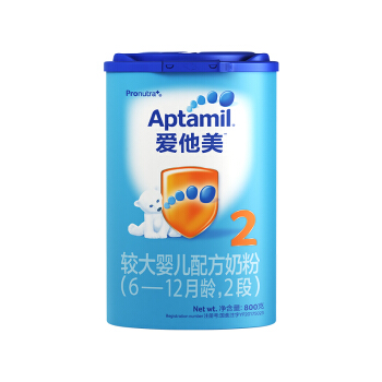 Aptamil 爱他美 较大婴儿配方奶粉 中文版 (2段、800g)
