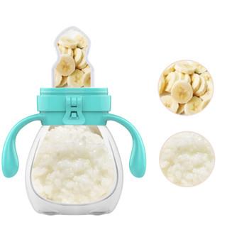 新贝 食物咬咬训练器婴儿辅食袋营养工具咬咬(熊)绿 透明XB-9019-1