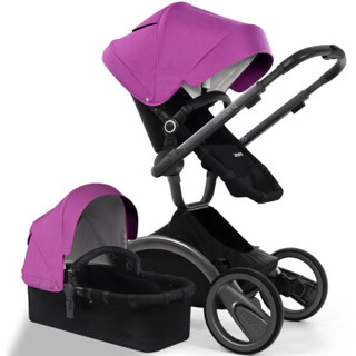 babysing 避震可换向高景观舒适儿童推车 紫色