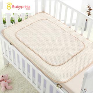 Babyprints新生婴儿隔尿垫彩棉加厚可洗护理垫宝宝尿布垫1条装大号五彩条纹