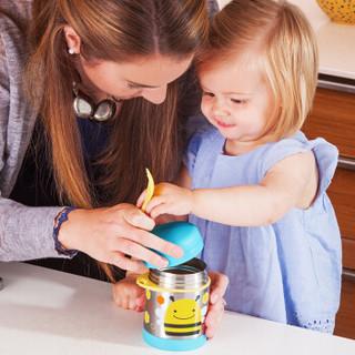 SKIP HOP 动物园系列 保温食物壶(附魔术汤匙)小蜜蜂 325ml