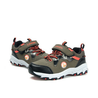 Camkids 86860043 儿童户外运动鞋  黑/卡其/桔红 35码