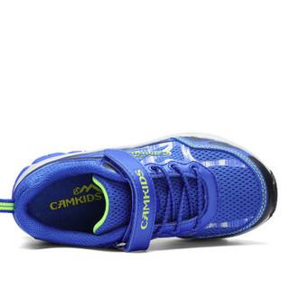 Camkids 86670309 男童户外登山鞋 黑色/宝石蓝/荧光黄 36码