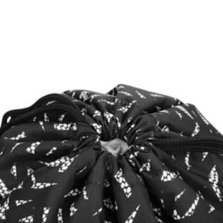 KAMILIANT 卡米龙 SUNNY DAYS系列 BA0*39002 时尚抽绳束双肩背包 黑色印花 37*10*43cm