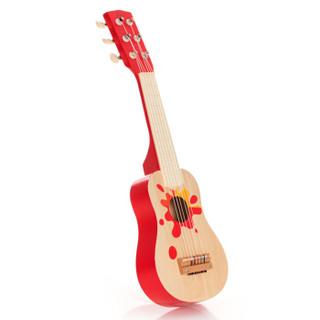 德国可来赛Classic world 儿童可弹奏早教吉他玩具男孩女孩木制乐器玩具16寸红色4053