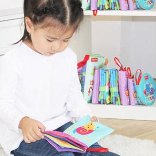 费雪Fisher-Price 婴幼儿布书 宝宝布书套装(含4本动物生物数字认知)早教启蒙学习玩具F0811