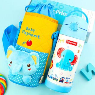 Fisher-Price 费雪 保温吸管杯(含杯套)蓝色 320ml