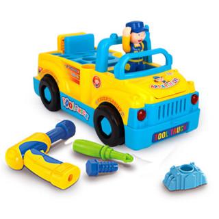 汇乐玩具(HUILE TOYS)789 益智玩具 电动组装工具车万向卡通工程车 电钻音乐组装拆装车