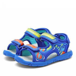 Camkids 82771101 男童防滑沙滩鞋 黑色/火焰红/柠檬黄 30码
