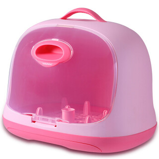 世纪宝贝(babyhood)奶瓶收纳箱 婴儿用品收纳盒 果粉色 BH-801
