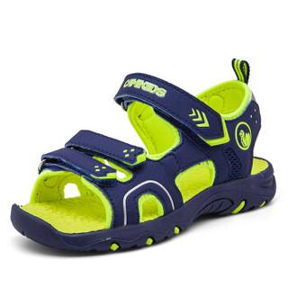 Camkids 86771107 男童沙滩凉鞋  深海蓝/荧光黄 35码