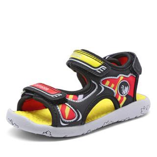 Camkids 82771101 男童防滑沙滩鞋  黑色/火焰红/柠檬黄 29码