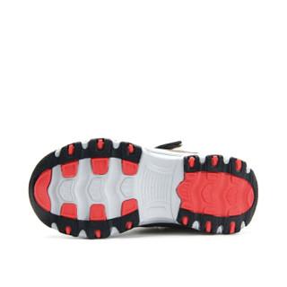 Camkids 86860043 儿童户外运动鞋耐磨防滑登山鞋 86860043 黑/卡其/桔红 34