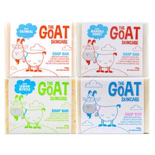 TheGoatSkincare山羊奶皂香皂澳洲进口肥皂婴儿童洁面沐浴洗脸皂 100g*4