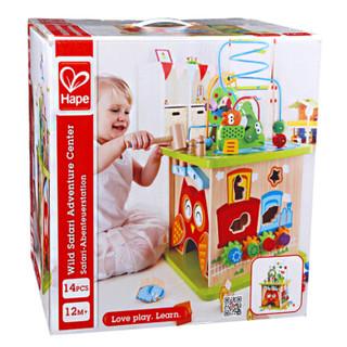 Hape E8341 儿童绕珠串珠玩具 森林动物游戏盒