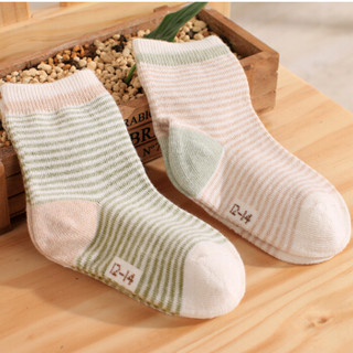 Elepbaby 象宝宝 四季款通用婴儿棉袜 6双装 12-14cm(1-2岁)