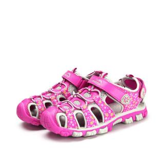 Camkids 86761304 女童舒适凉鞋 紫红/白灰 36码