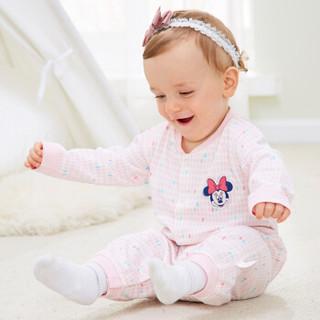 DisneyBaby 迪士尼宝宝 DA712GE22P0159 宝宝连身衣 浅粉点 59cm