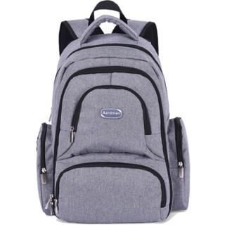 aardman妈咪包多功能大容量双肩妈妈包待产包双肩背包HY-1709灰色