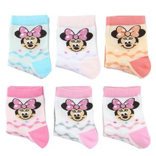 Disney 迪士尼 6611 儿童棉袜 6双装 18-20cm 6-8岁