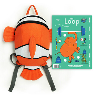 Mr.P 000451 儿童双肩小背包 可爱小丑鱼 橙色 30*27*12cm