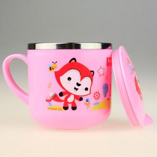 Fisher-Price 费雪 儿童单柄带盖水杯 粉色 270ml