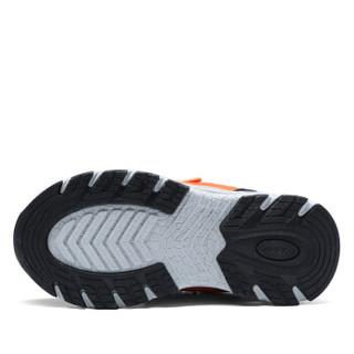 Camkids 86670009 男童休闲登山鞋 荧光橙红/柠檬黄/黑色 35码