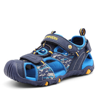 Camkids 86761315 男童框子凉鞋  藏青/彩蓝/桔黄 36码