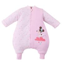京东PLUS会员 : DisneyBaby 迪士尼宝宝 DA535BR20P1690 婴儿夹棉分腿睡袋 浅粉 1-3岁 *2件