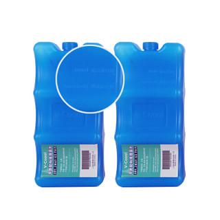 V-Coool 套装 爱心小屋双层大容量母乳保鲜包/妈咪背奶包/储奶包(玫红色)+干式蓝冰2个
