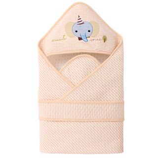 Elepbaby 象宝宝 新生儿彩棉空气层条纹抱被