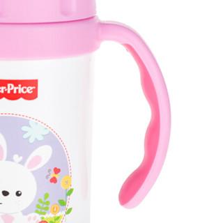 Fisher-Price 费雪 儿童真空吸管保温杯  300ML  粉色