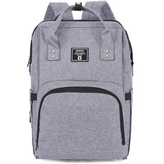 aardman HY-1706 双肩妈咪包(灰色) 多功能大容量 27*21*42cm