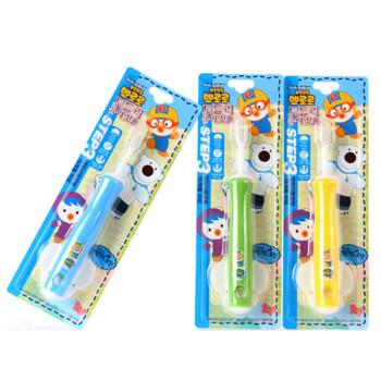 啵乐乐Pororo宝宝婴幼儿童软毛硅胶牙刷 三段 *5件