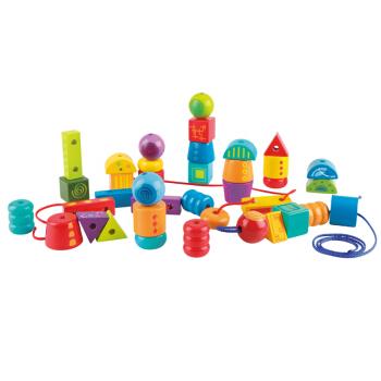 Hape E8305 大颗粒穿绳玩具