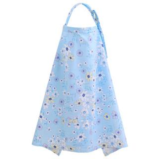 Elepbaby 象宝宝 多功能哺乳喂奶巾(春天有约蓝色)100X70cm  均码