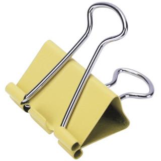 得力(deli)24只32mm彩色长尾票夹 金属票据夹燕尾夹铁夹子 中号8553