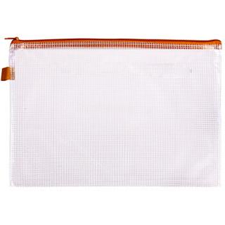 得力(deli)4只A4防水网格拉链袋 彩色资料袋文件袋 4色混装33182