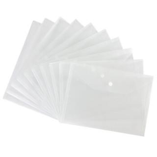 齐心(Comix) 20个装 A4透明文件袋 公文袋 资料袋 按扣档案袋 C310E 办公用品