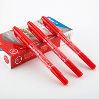 GuangBo 广博 JH9824R 记号笔 (红色、12支装)