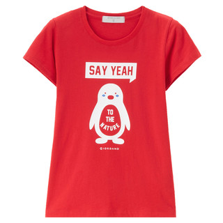 GIORDANO 佐丹奴 66387005 女士T恤 (红色、M)