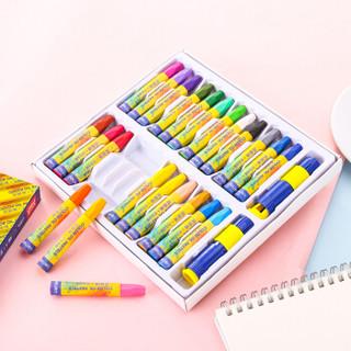 得力(deli)24色学生六角杆易上色油画棒 儿童蜡笔绘画笔72052